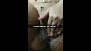My wife become really cum addicted after few gangbangs! Unprotected cheating creampies and cumshots!