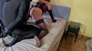 Bound Slave Made To Fuck His Cruel Femdom Mistress And Lick His Own Cum Afterwards