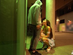 Party Chick Cheats on her Boyfriend - Risky Doggy Fuck in Public - Shaiden Rogue
