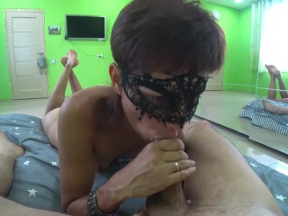 MILF made Feet up blowjob for subscriber!
