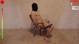 3 Orgasms Impaled on Dildo Tied to Chair Restrained Prostate Milking Session Hands-free (trailer)