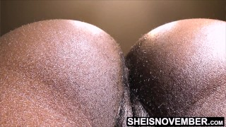 Msnovember Let Her Boss Lick & Smell Her Hairy Black Asshole For A Promotion at Business Office, Kne