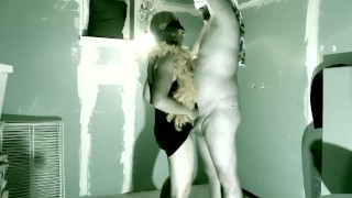 Husband is a little tied up helping out super sexy MILF neighbour in her dungeon basement