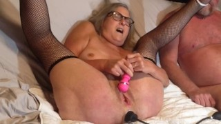 Horny Mature Milf Toys Wet Pussy Hubby Insets Inflatable Buttplug Big Gushing Orgasm