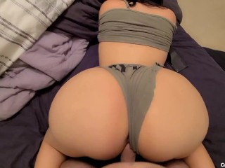 I got morning WOOD so I used my thick HOT Stepsis to take care of it! She made me cum TWICE!