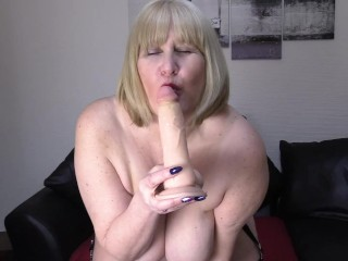 Big Tit, Dildo Riding Mature Whore.