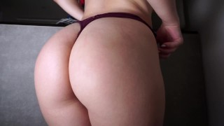 GIRL WITH AN AMAZING ASS MASTURBATE IN FRONT OF CAMERA FOR HER STEP BROTHER