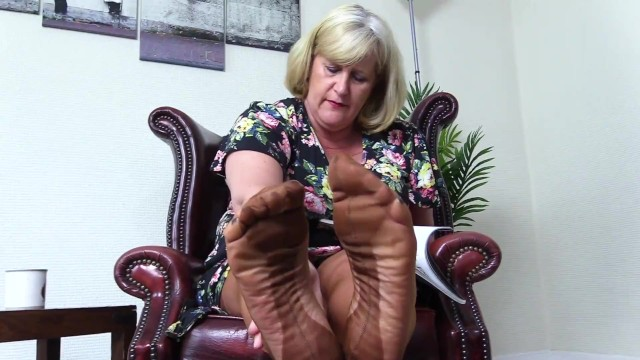 German Mature Dominates Feet