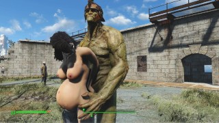 Huge orc roughly fucked brunette   PC Game, Fallout Porno