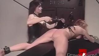 BRUCE SEVEN - Sexy Brunette and Blonde Dominate Sex Slave