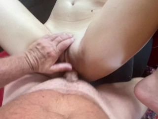 Hot Italian Babe topless on beach fucks and gets huge cum shot on her face by Original MILF Hunter