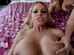 My Busty Hot Step Mom Catches me Fucking her Step Sister - Brooklyn Chase and Cory Chase