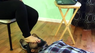 """Preview """"fans only""""-Prideful Coworker gets turned Footslave By Boss"""" Foot domination"""