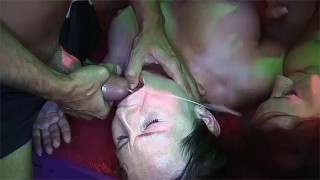 Deepthroat Bukkake Gangbang