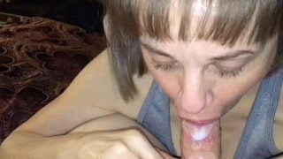 Mature amateur Dirty Marie oral creampie compilation