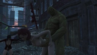 Cait and sex with super monsters, mutants! 3d monster porno   Fallout 4 cait