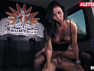BumsBus – Lady Paris Busty Mature German Brunette Naughty Fuck In The Backseat – LETSDOEIT