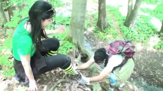 goddess gloria dominate her 24/7 slave at hike