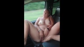 Hot girl masturbation on public highway full nude