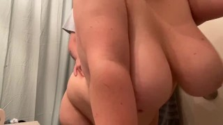 chubby stoner couple fucks hard before intimate shower cumming and moaning digging dick far inside