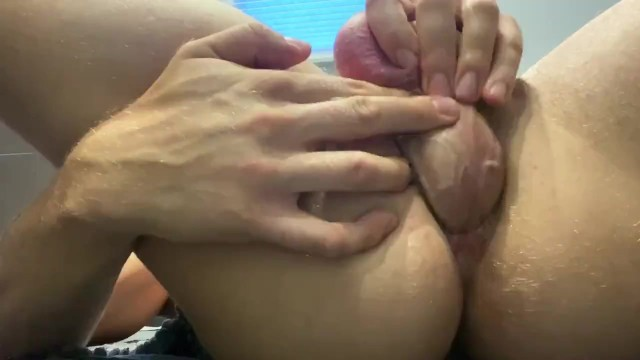 Fucking my own asshole with orgasm and creampie