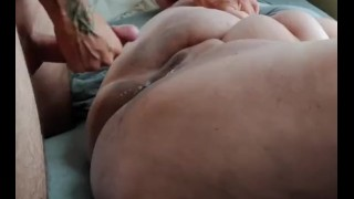 Absolutely soaked Bbw pussy pounded deep by huge cock (Loud Intense male Orgasm!!)
