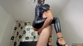 Adeline Murphy Gets Fucked Hard In Latex Suit And Butt Plug. Handjob & Blowjob. Cumshot In Mouth