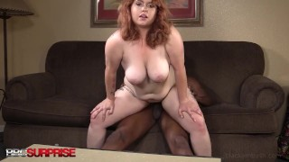 Chunky 22yo Ginger Arielle Goes Wild While Dark Dicked By Big Black Cock!