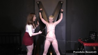 Electro Torture For Bound Slave Girl