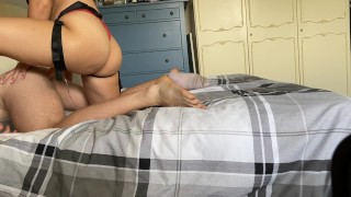 Intense afternoon pegging with fierce pounding from horny girlfriend / Teaser