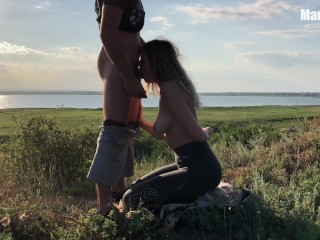 Fucked a fit girl right during training outdoors