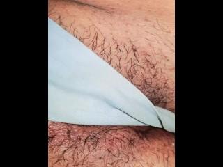 Teen rubbing pussy thrue panties