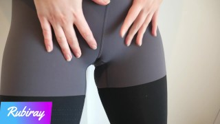 Screen Capture of Video Titled: Fitness Babe Makes Me Cum in Her Panties And Pull Them in Her Yoga Leggings