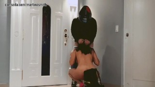 Martinasmith prank deliveryguy ending with hard fuck until creampie