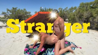 Hotwife fucked by a STRANGER at the beach and makes CUCKOLD husband film