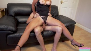 Step sis seduces me in tight black dress after her night out!