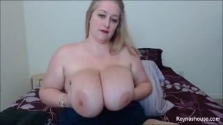 Hard For My Huge Tits - Reyna Mae - BBW POV Big Tits Bouncing MILF Blonde Topless JOI Big Nipples