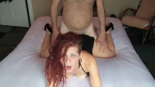 Sexy Blue Eyes Babe In Mini Dress Gets Deep Hard Fuck From Daddys Rock Hard Cock