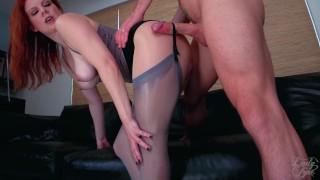 A PantyHose Affair: Lady Olivia & Laz Fyre *Pantyhose Fetish Sex* sheer, nylon, stockings