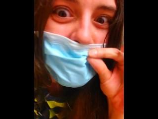 old vid PUBLIC RESTROOM PEE Bad Words Face Mask Pandemic Quarantine Covid COVID-19 Sarcastic Doom