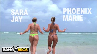BANGBROS - PAWG Pornstars Sara Jay and Phoenix Marie Get Their Big Asses Hammered