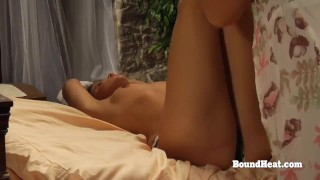 Horny Lesbian Madame Humps On Her Slave And Orgasms Hard