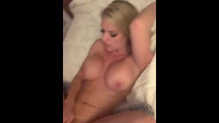 The sexy blonde Milf next door fucks the pool boy with a big dick