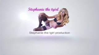 Stephanie masturbates with cumshot on belly