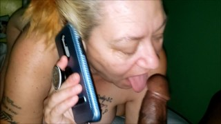 Boyfriend Calls While Granny Is Screwing The Neighbor