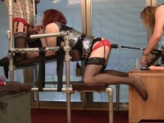 Sissy Lucy in Chastity with the Fucking Machine