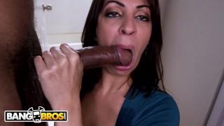 BANGBROS - Jazmyn, A Latina With Natural Big Tits, Taking Big Black Dick