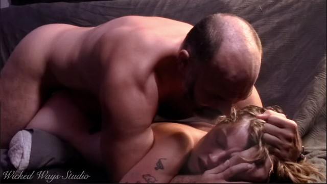 Lovely Lavender Joy begs me to cum in her tight pussy, Older man has sensual sex