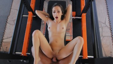 Tiny Little Gym Slut Lily Jordan Wants Her Trainer To Give Her A Pounding