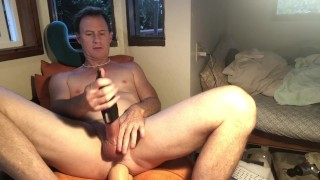 New Vibe Jerk Toy and Tongue Double Anal